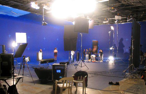 Shooting on bluescreen
