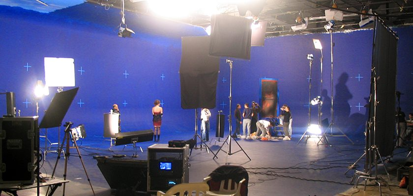 Shooting on bluescreen